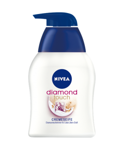 Nivea Diamond Touch mydło z pompką 250 ml