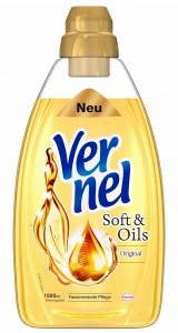 Vernel Soft & Oil do płukania złoty 50 prań 1,5 L