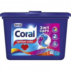 Coral Optimal Color 3 w 1 kapsułki 18 szt - 486 g