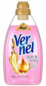 Vernel Soft & Oil do płukania różowy 50 prań 1,5 L
