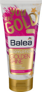 Balea Golden Shine balsam do ciała z brokatem 200