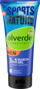 Alverde Men Sport żel do kąpieli 3 w 1 200 ml