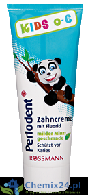 Perlodent Kids od 0-6 lat pasta do zębów 75 ml