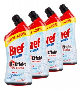 Bref Power XXL Wc-Kraft Gel Max White - 1,2 L